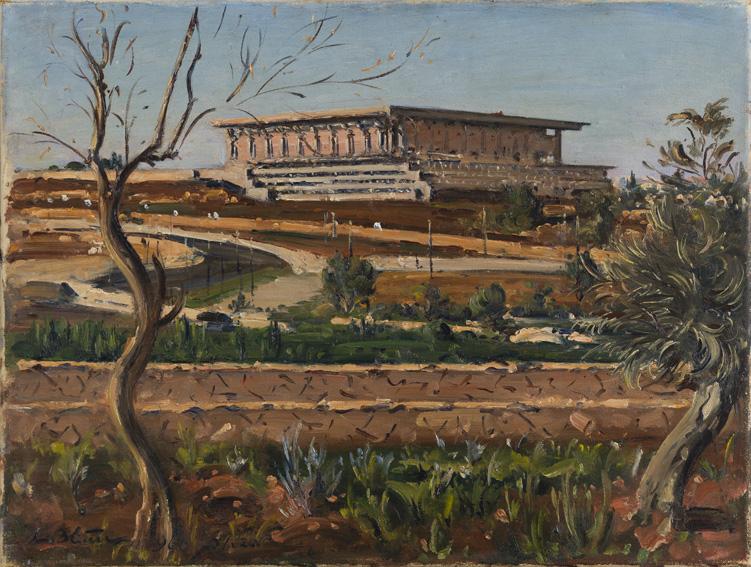 Blum, Ludwig - הכנסת לאחר בנייתה | 1966 | 46X60 | An Israeli Collection